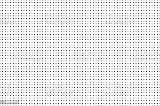 Photo of Perforated holes. Seamless metal grille. Wire fence isolated on white background. Circle pattern. illustration