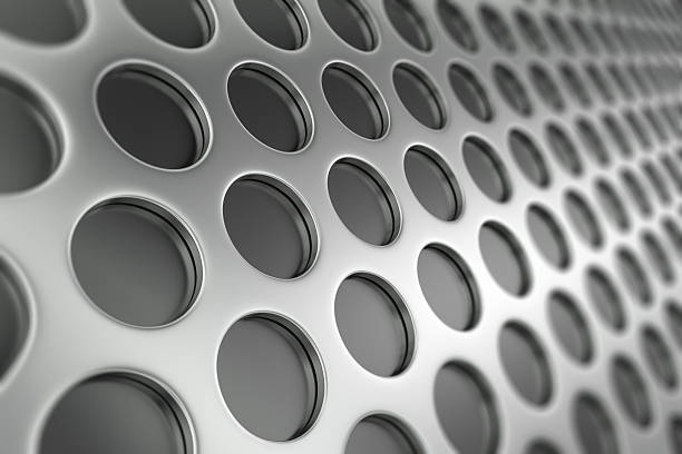 Perforated Metal in Perspective stock photo