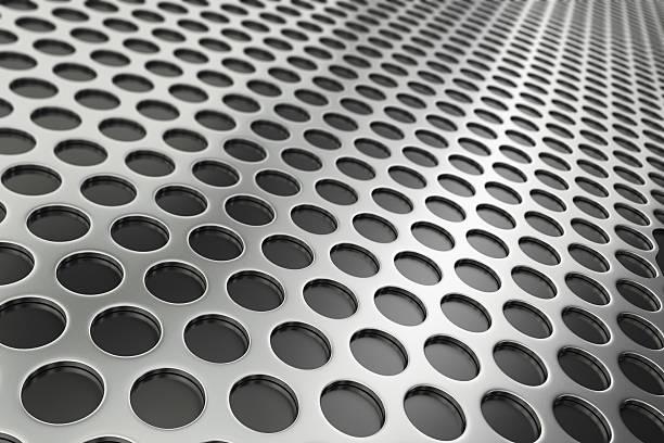 Perforated Metal stock photo