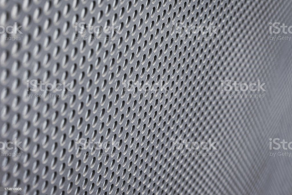 Perforated Steel Background royalty-free stock photo