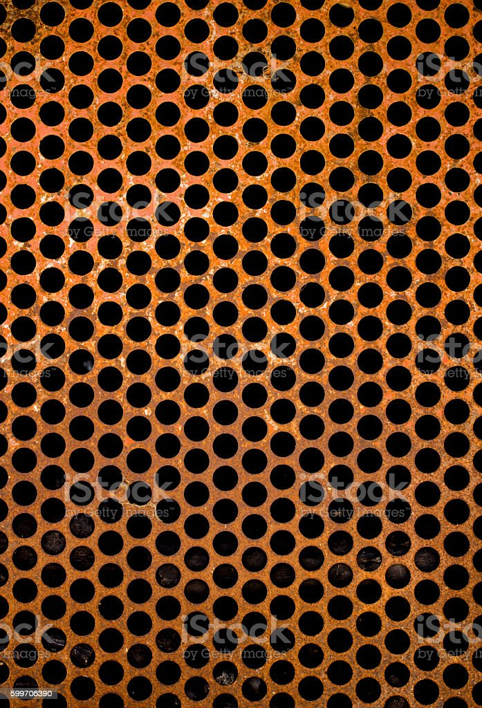 perforated steel plate stock photo