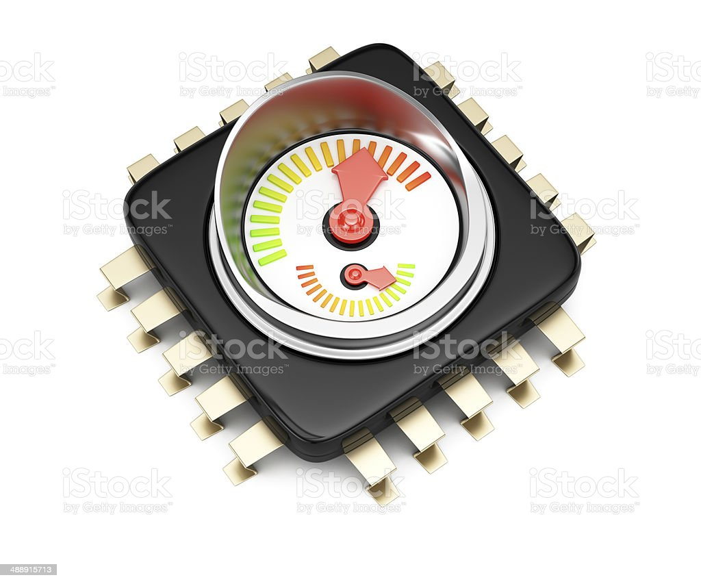 CPU performance concept royalty-free stock photo
