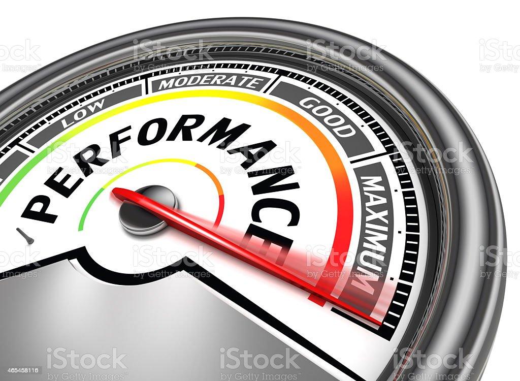 performance conceptual meter stock photo