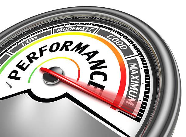 performance conceptual meter stock photo