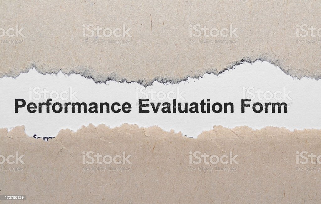 Performance evaluation royalty-free stock photo