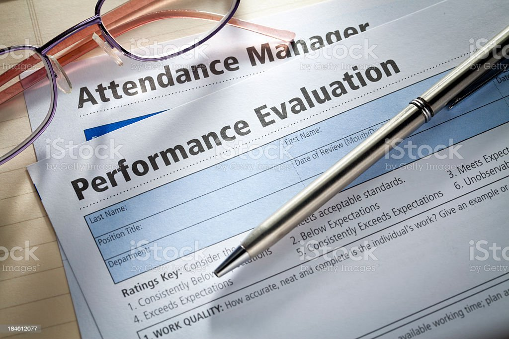 Performance Evaluation royalty-free stock photo
