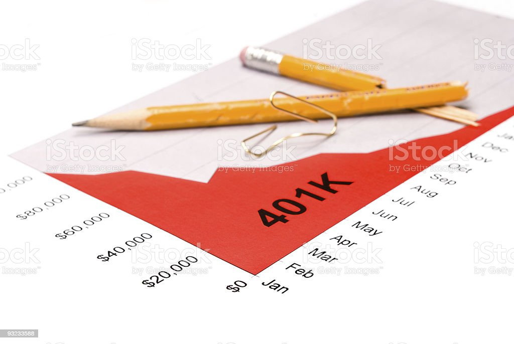 401K performance graph royalty-free stock photo