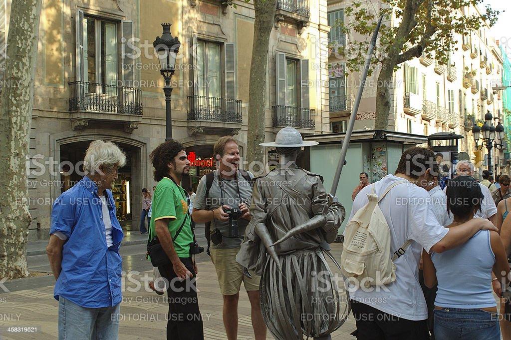 Performance in Las Ramblas royalty-free stock photo
