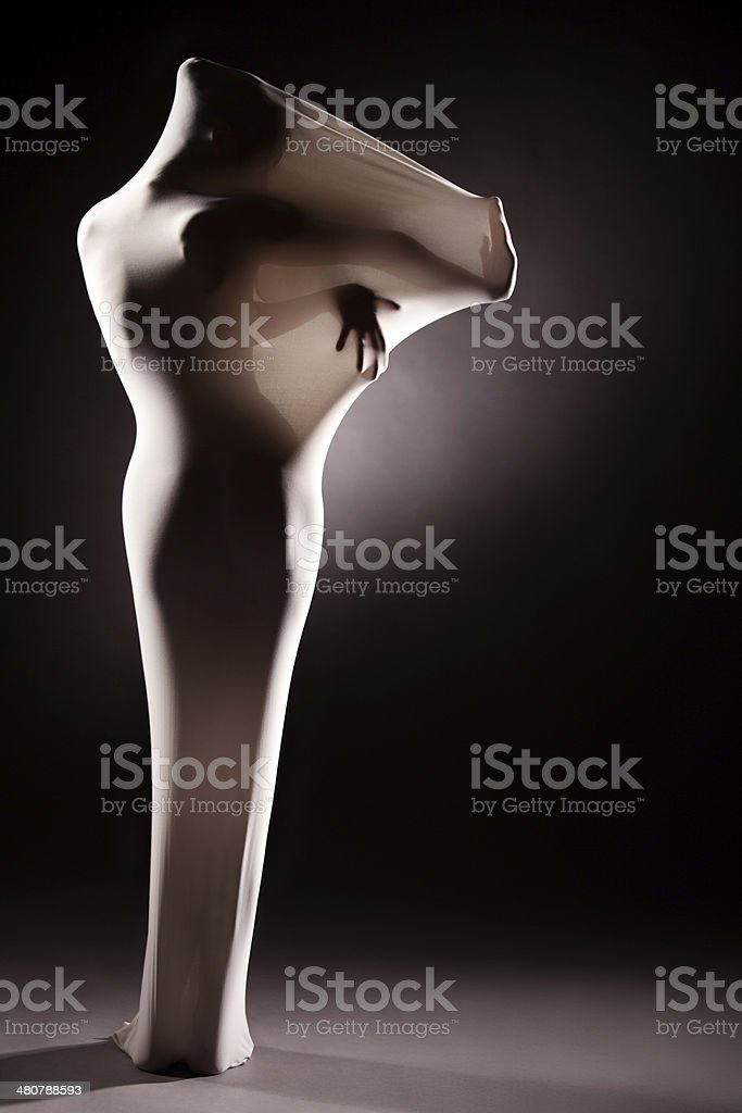 Performance in white stock photo