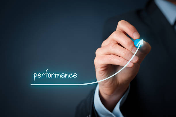 Performance increase Manager (businessman, coach, leadership) plan to increase company performance. performance stock pictures, royalty-free photos & images