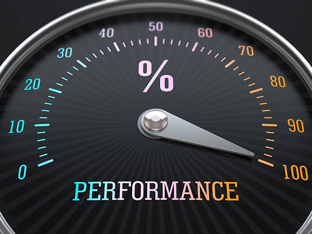 Performance level stock photo