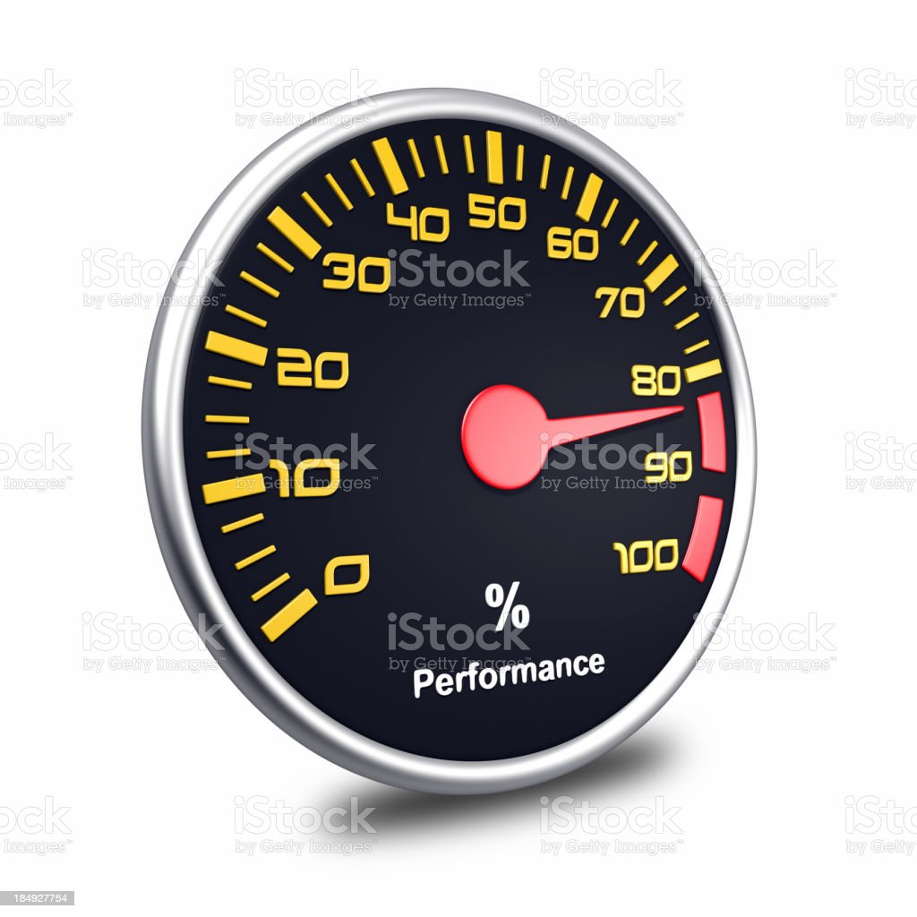 performance meter stock photo