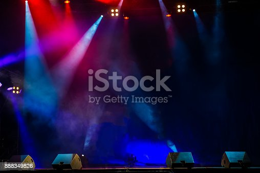 istock Performance moving lighting. Concert Light Show. Stage Lights. 888349826