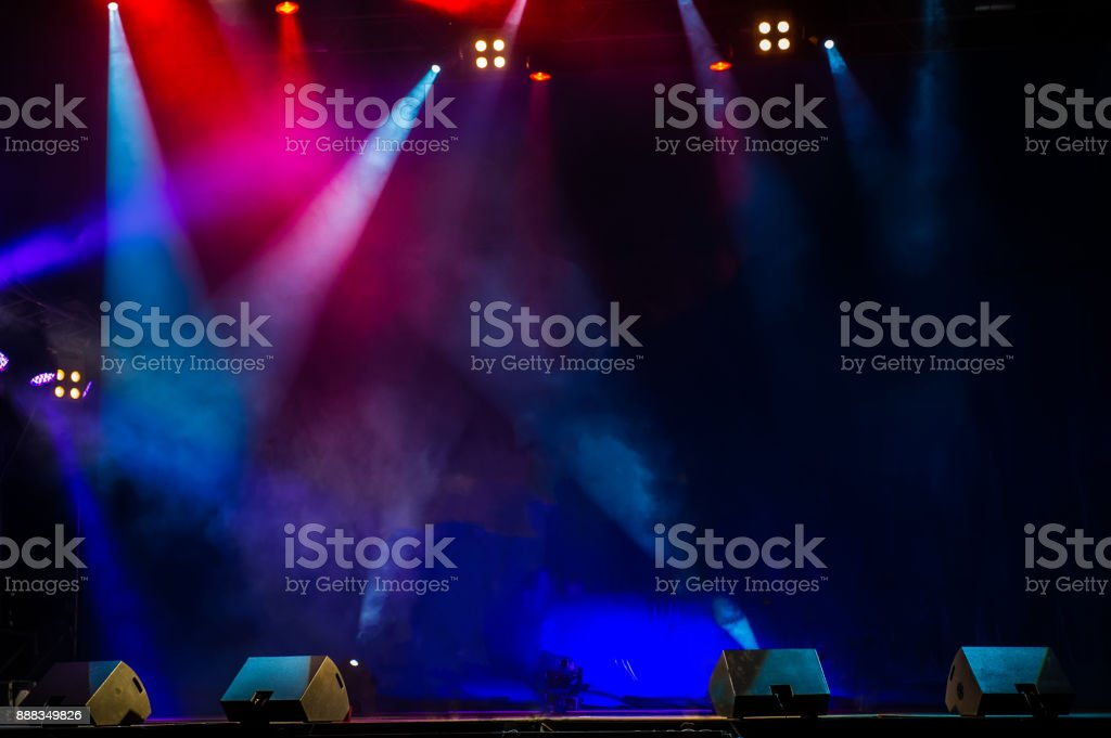 Performance moving lighting. Concert Light Show. Stage Lights. stock photo
