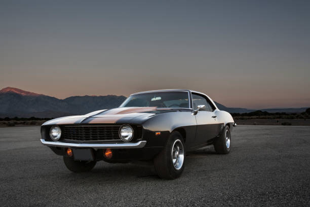 Performance Muscle Car stock photo