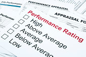 istock Performance rating and appraisal form 489220891