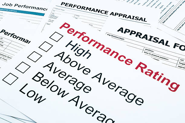 performance rating and appraisal form - performance stock photos and pictures