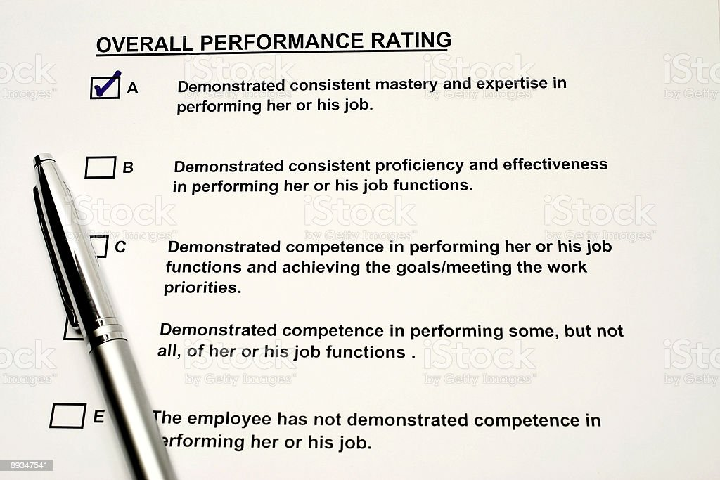 Performance Rating royalty-free stock photo