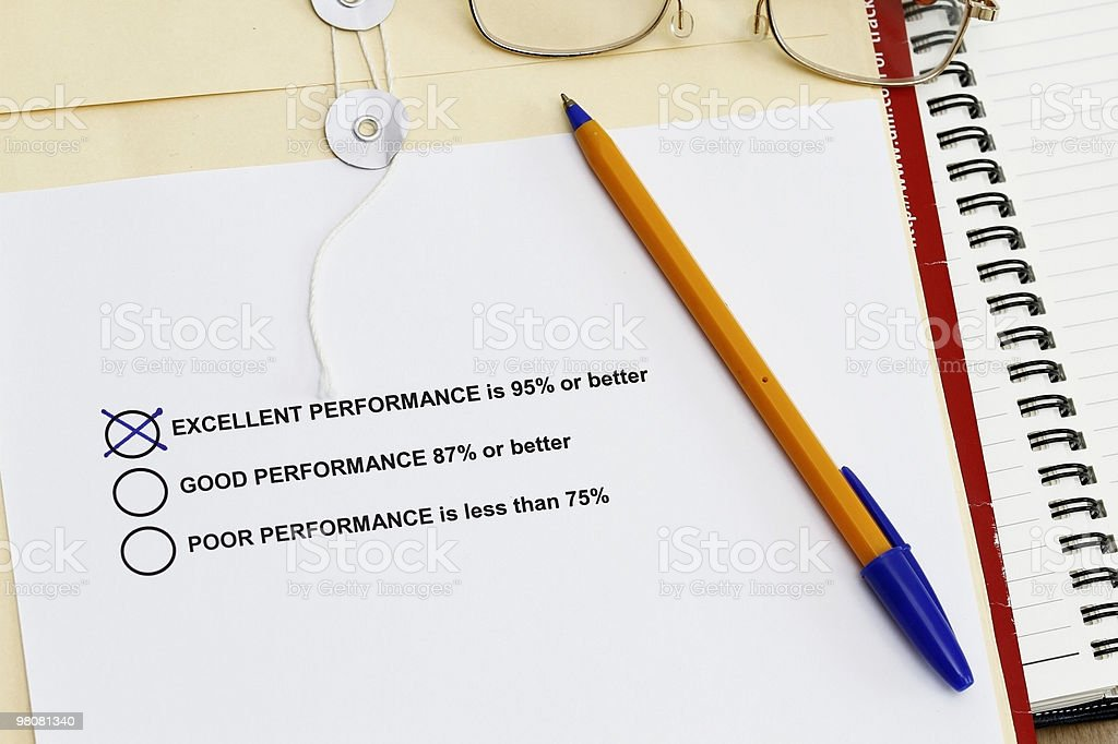 Performance Survey royalty-free stock photo