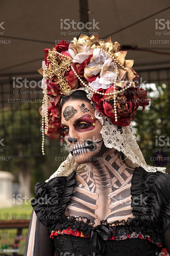 Performer At Dia De Los Muertos Stock Photo More Pictures Of Adult