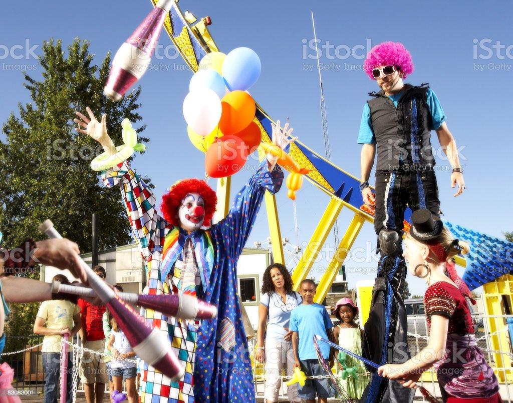 performers at an amusement park royaltyfri bildbanksbilder
