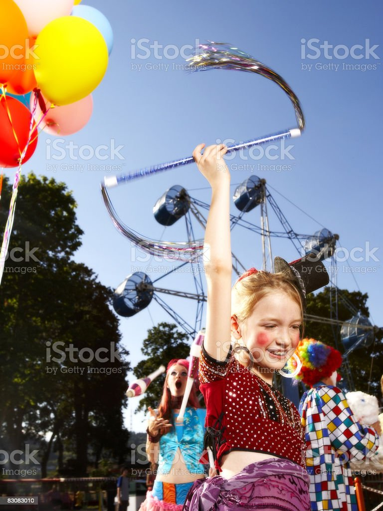 performers at an amusement park royalty free stockfoto