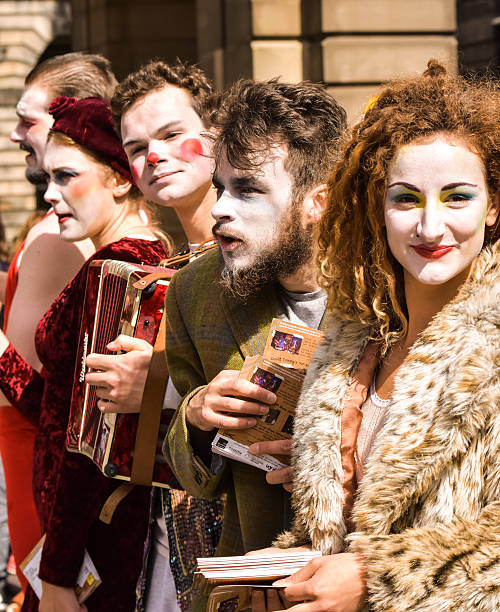 Performers at the Edinburgh Fringe festival in August. stock photo