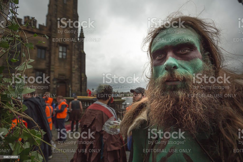 Performers at the Jazz and Blues Festival Parade, Edinburgh stock photo