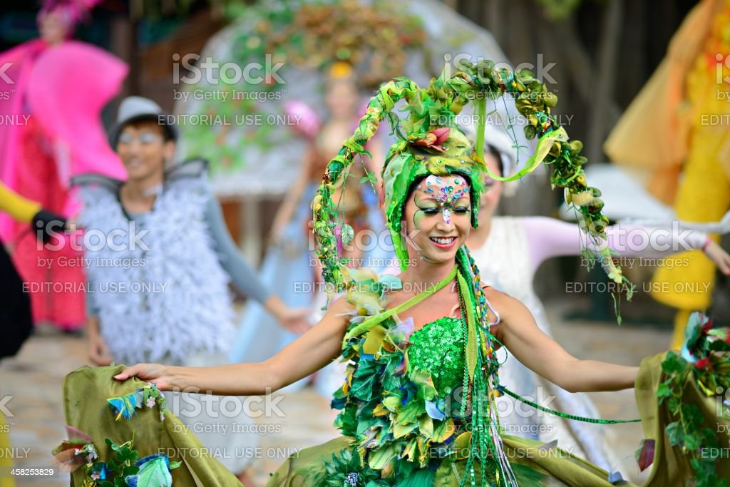 Performers on Lantau Island royalty-free stock photo