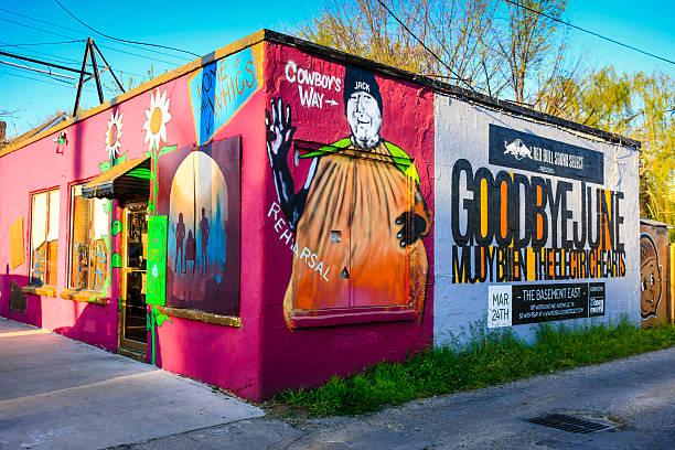 Realiza artista Co-op edificio en cinco puntos en este de Nashville - foto de stock
