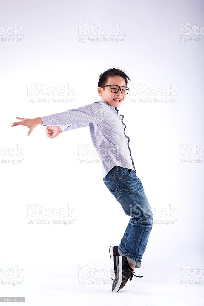 Performing freeze move stock photo