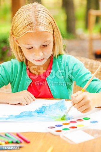 637797672istockphoto Performing her creativity. 518308451