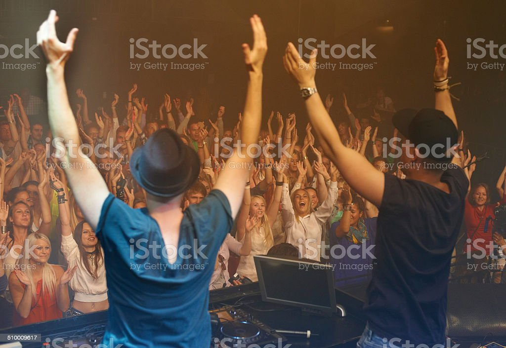 Performing live stock photo