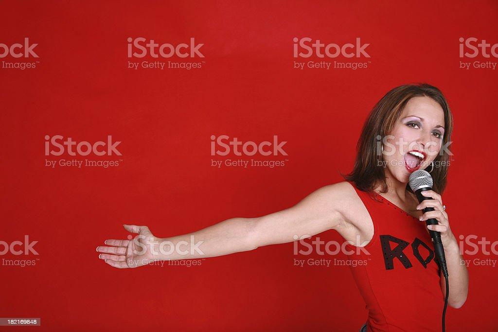 Performing Singer royalty-free stock photo