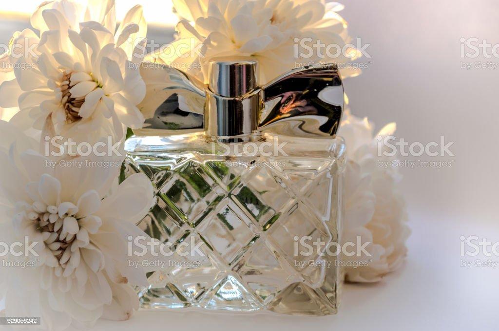 Perfume and white flowers stock photo more pictures of perfume and white flowers royalty free stock photo mightylinksfo