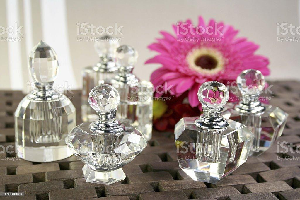 perfume bottles and flower - Royalty-free Alternative Medicine Stock Photo