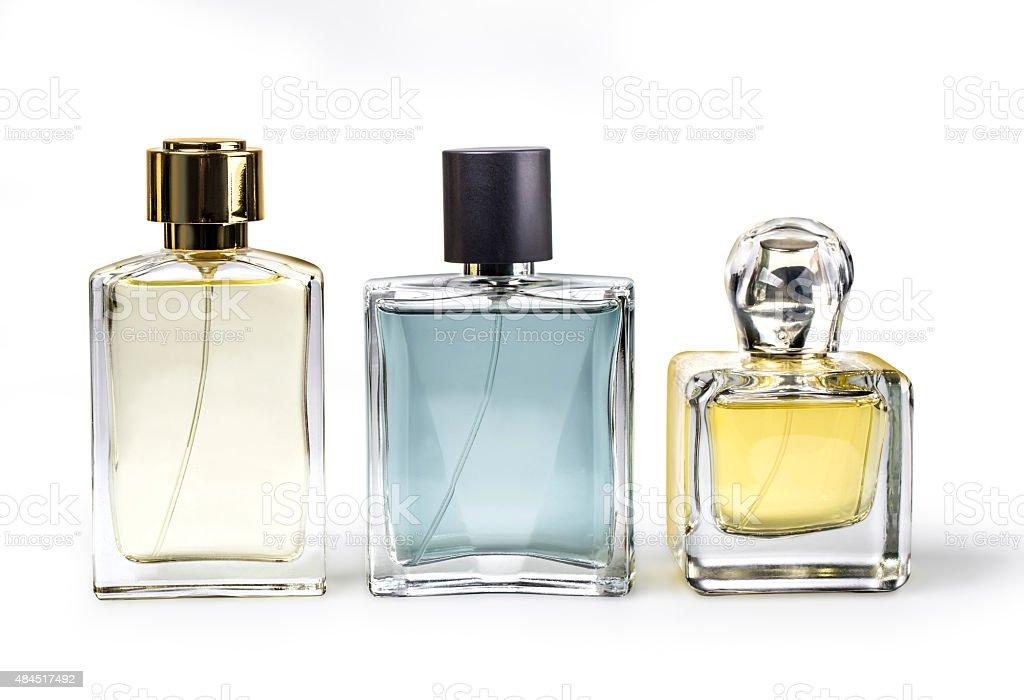 perfume bottles stock photo