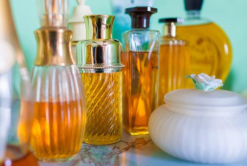 Perfume Bottles Stock Photo - Download Image Now