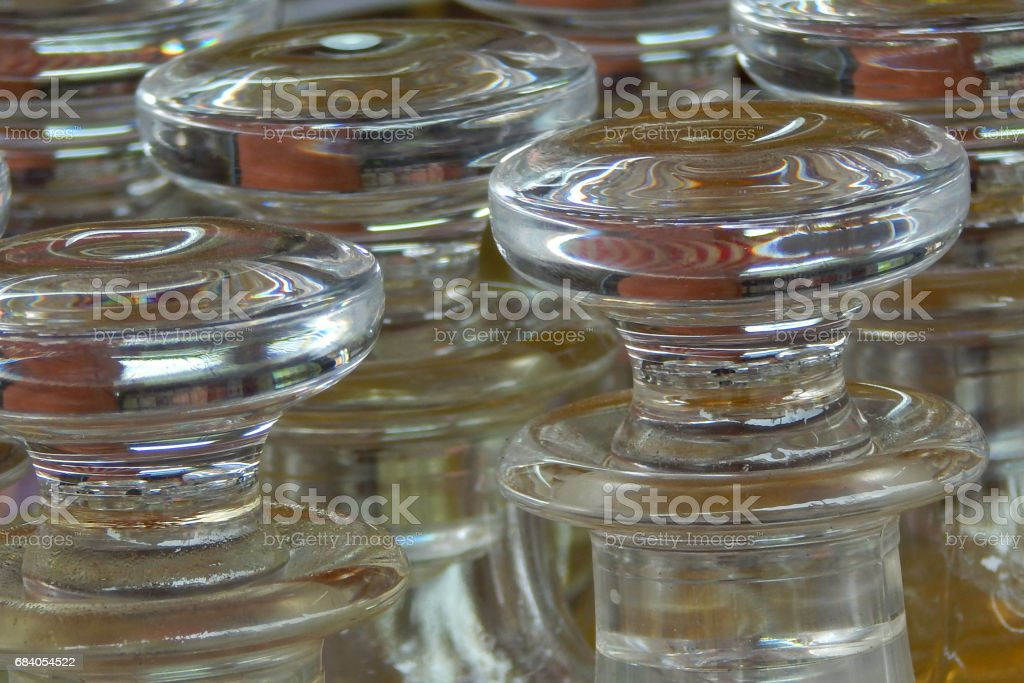 Perfume  or Attar bottles in the street market,India stock photo