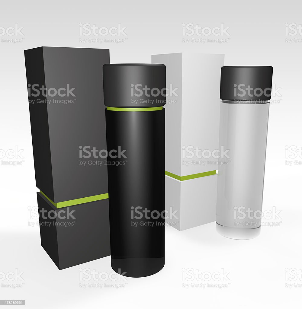 perfume or beauty blank packaging royalty-free stock photo