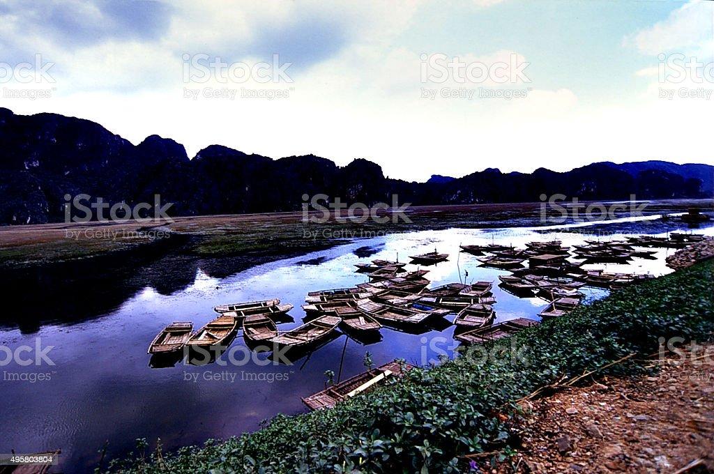 perfume river vietnam stock photo