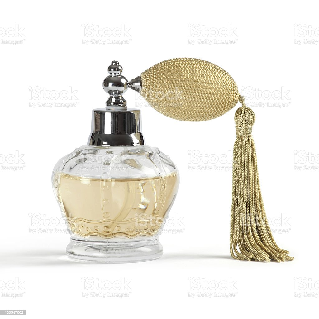 Perfume spray bottle stock photo