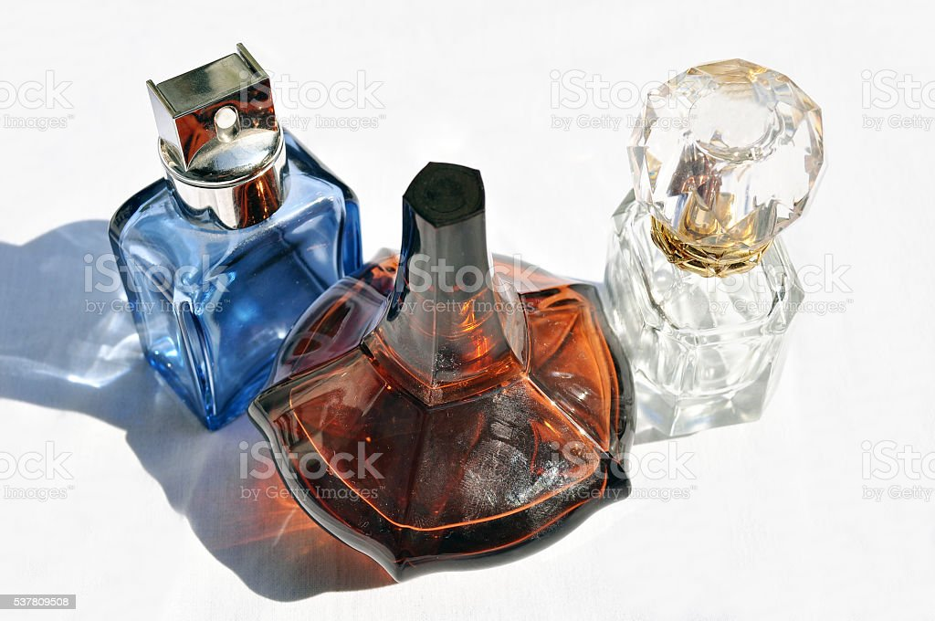 Perfumes all different stock photo