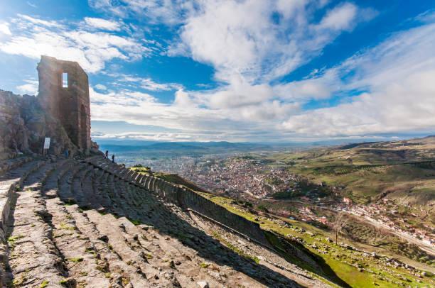Pergamon Ancient City in Turkey stock photo