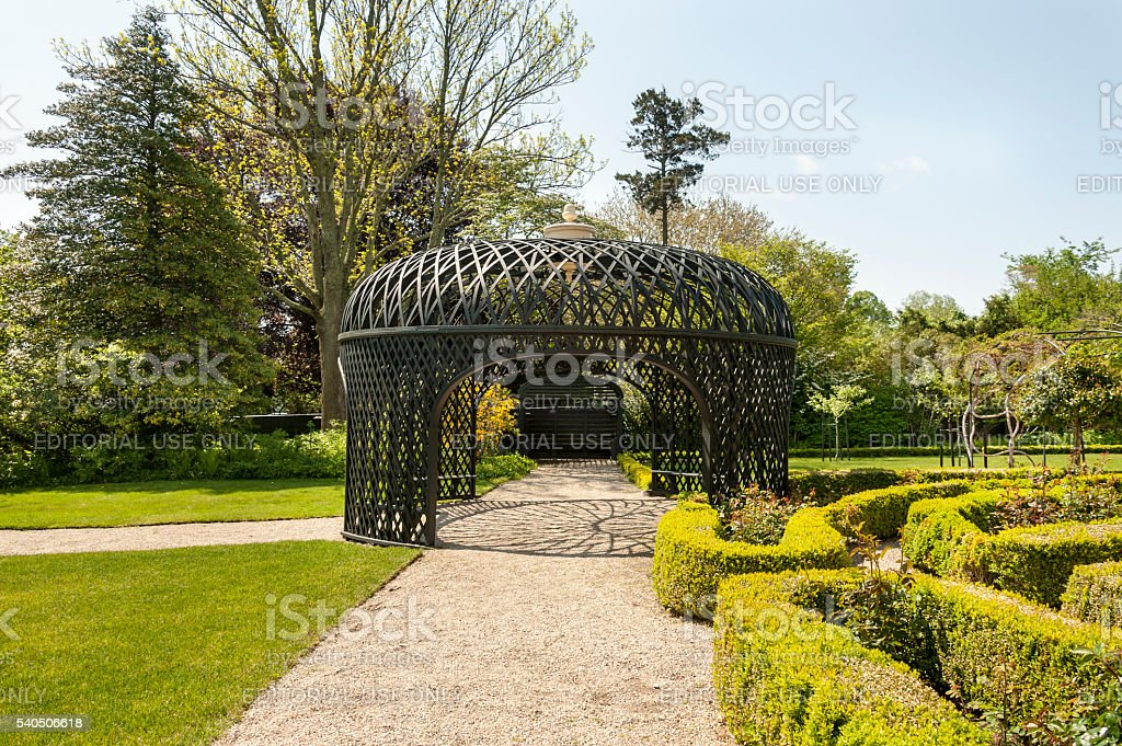 Pergola at the Rotch-Jones-Duff House stock photo