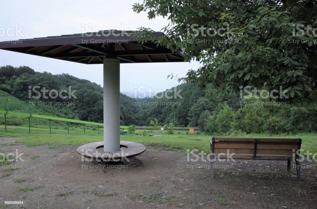 Pergola bank im park stock fotografie und mehr bilder von