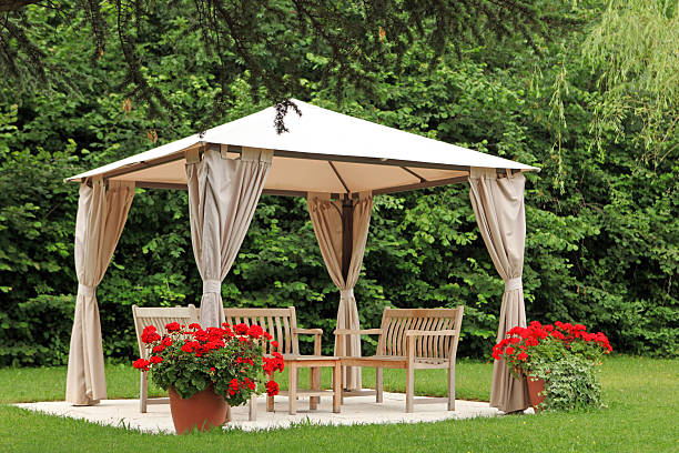 Pergola in a Garden stock photo