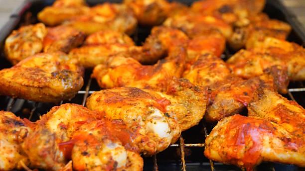 Peri Peri Chicken Wings stock photo