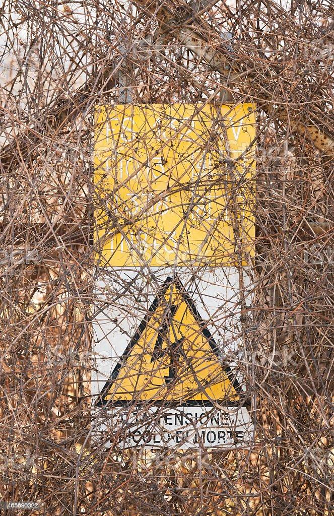 Pericolo di morte - Electrical warning sign stock photo