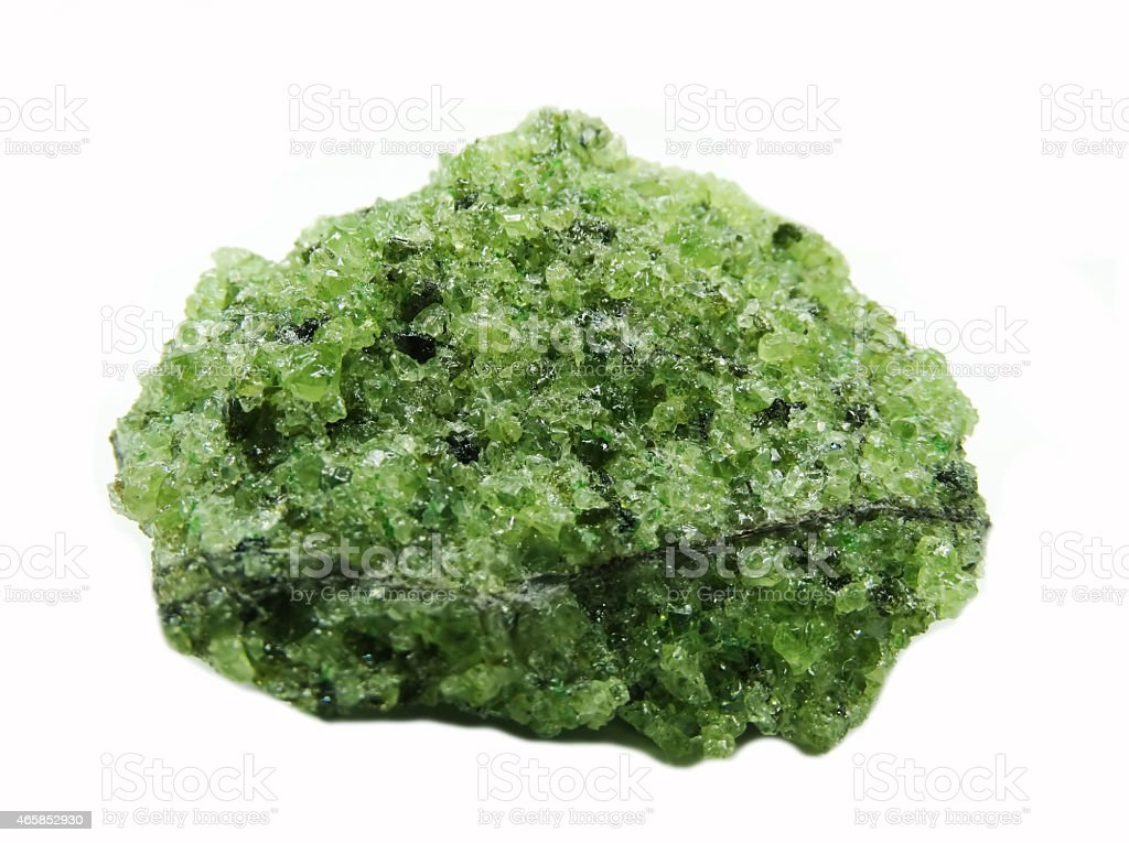 peridote geode geological crystals stock photo